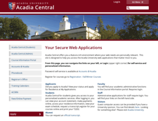 central.acadiau.ca screenshot