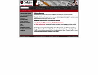 central.carleton.ca screenshot