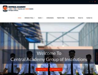 centralacademyschools.org screenshot