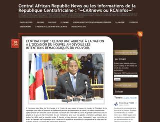 centralafricanrepublicnews.wordpress.com screenshot