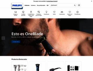 centralamerica.philips.com screenshot