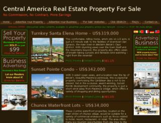 centralamericarealestatepropertyforsale.com screenshot