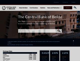 centralbank.org.bz screenshot