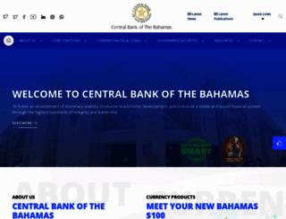 centralbankbahamas.com screenshot