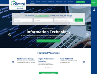 centralemployment.co.uk screenshot