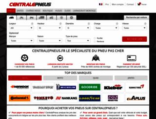 centralepneus.fr screenshot