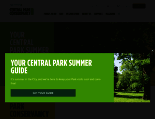 centralparknyc.org screenshot