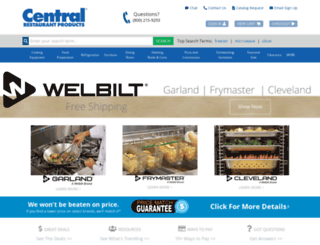 centralrestaurant.com screenshot