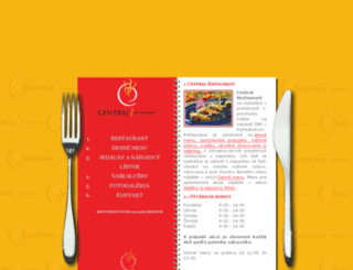 centralrestaurant.sk screenshot