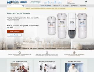 centralvacuum.com screenshot
