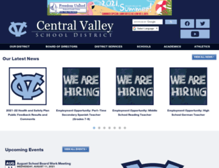 centralvalleysd.org screenshot