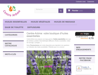 centre-arome.fr screenshot