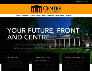 centre.edu screenshot