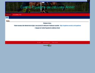 centreequestrejablines.ffe.com screenshot