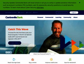 centrevillebank.com screenshot
