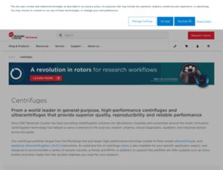 centrifugebybeckman.com screenshot