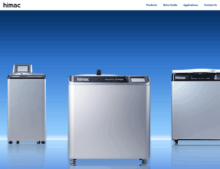 centrifuges.hitachi-koki.com screenshot