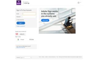 centro.echosign.com screenshot