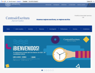 centrodeescritura.javerianacali.edu.co screenshot