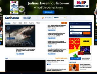 centrum.sk screenshot