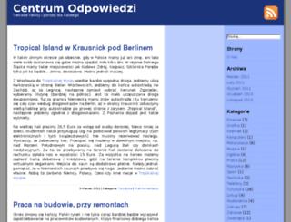 centrumodpowiedzi.pl screenshot