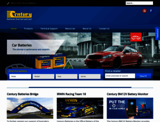 centurybatteries.com.au screenshot