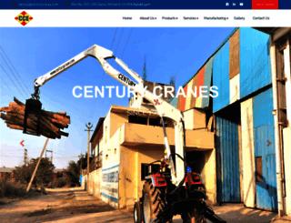 centurycranes.com screenshot