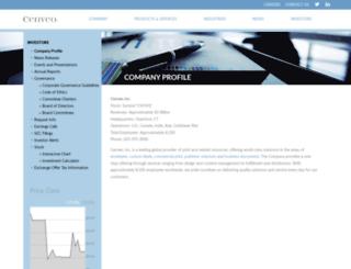 cenveo.investorroom.com screenshot