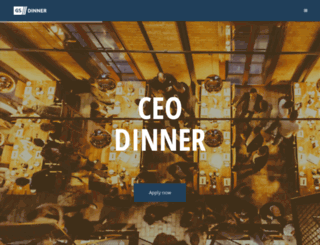 ceo-dinner.com screenshot