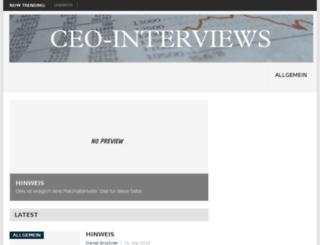 ceo-interviews.de screenshot
