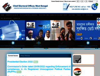 ceowestbengal.nic.in screenshot