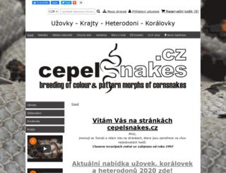 cepelsnakes.wbs.cz screenshot