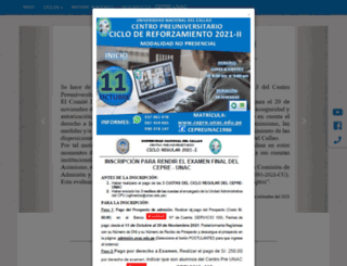 cepre.unac.edu.pe screenshot