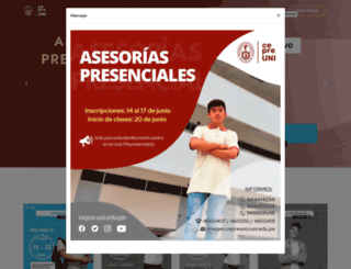 cepre.uni.edu.pe screenshot