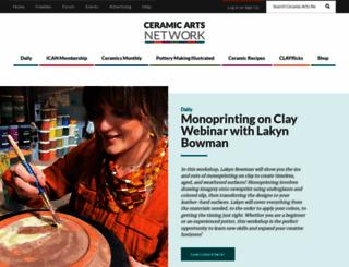 ceramicartsdaily.org screenshot