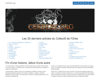 cerbere.org screenshot