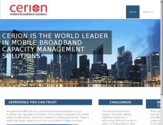 cerioninc.com screenshot