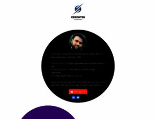 cerontek.com screenshot