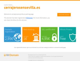 cerrajerosensevilla.es screenshot