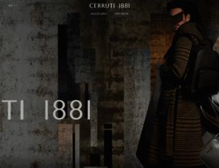 cerruti.com screenshot