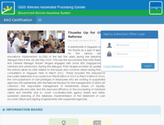 cert.gsis.gov.ph screenshot