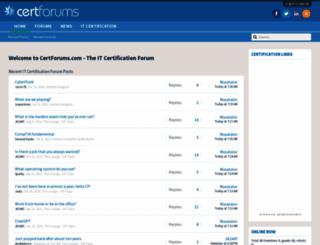 certforums.co.uk screenshot