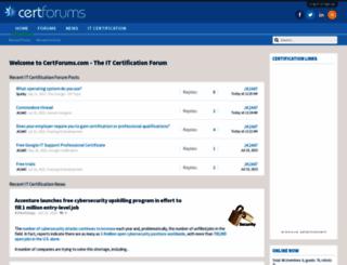 certforums.com screenshot