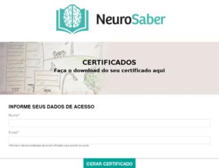 certificados.neurosaber.com.br screenshot