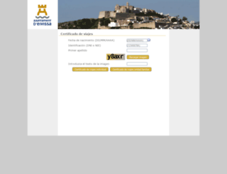 certificadosviajeweb.eivissa.es screenshot