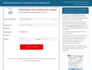 certificat-cession.super-demarche.com screenshot