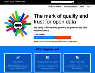 certificates.theodi.org screenshot