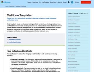 certificatetemplatesonline.com screenshot