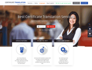 certificatetranslation.co screenshot