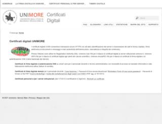 certificatidigitali.unimore.it screenshot